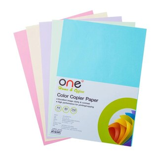 Set B Colour Copier Paper (Purple Green Pink Blue Cream) ONE