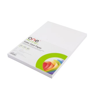 Colour Card Paper A4 120 gsm. White (100/Pack) ONE