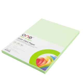 Colour Card Paper A4 120 gsm. Green (100/Pack) ONE