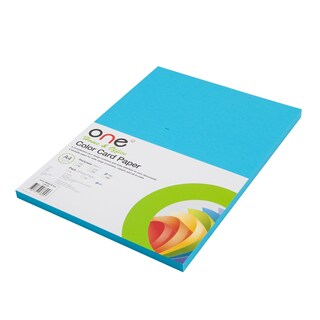 ONE Colour Card Paper 22 160 gsm. Blue 50/Pack