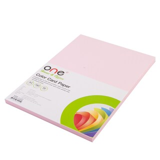 Colour Card Paper A4 180 gsm. Pink (50/Pack) ONE