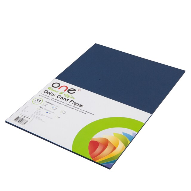 Colour Card Paper 215 gsm. 743 Blue (10/Pack) ONE