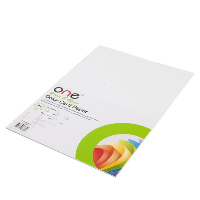Colour Card Paper A4 250 gsm  White (10/Pack) ONE | OfficeMate