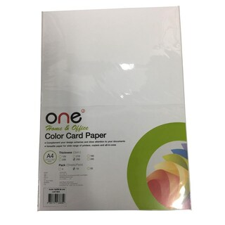 Colour Card Paper A4 250 gsm. Cream (10/Pack) ONE