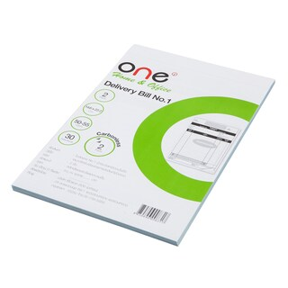 ONE Carbonless Delivery Bill Book 2 Ply 3Books/Pack