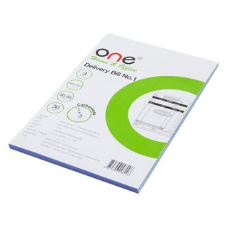 ONE Carbonless Delivery Bill Book 3 Ply 3Books/Pack