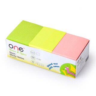 """Sticky Notes 1.5""""x2"""" Pastel (12/Pack) ONE O1520N-A"""