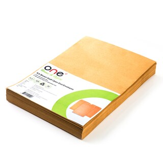 "Brown Kraft Open-End Envelope KA 9x12 3/4"" 125 gsm. (50/Pack) ONE"