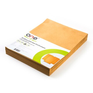 "Brown Kraft Open-End Envelope KA 10x13"" 125 gsm. (50/Pack) ONE"