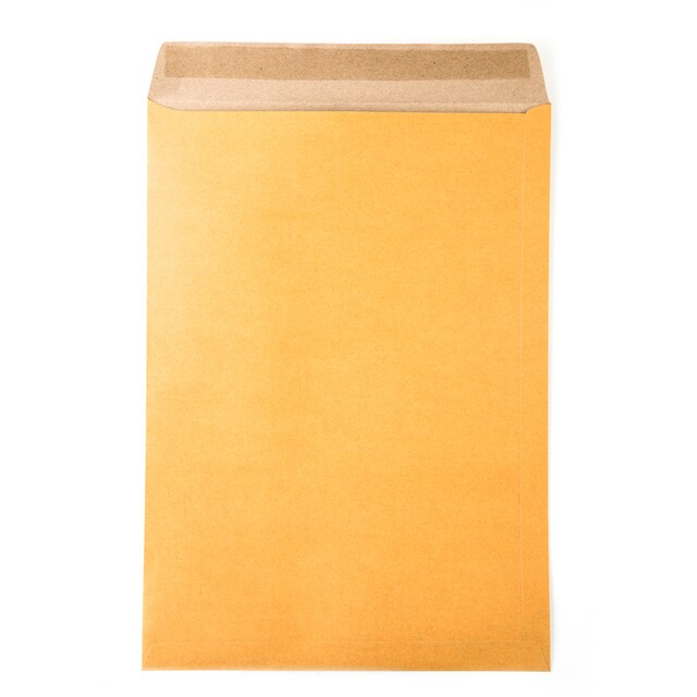 "Brown Kraft Open-End Envelope KA 10x14"" 125 gsm. (50/Pack) ONE"