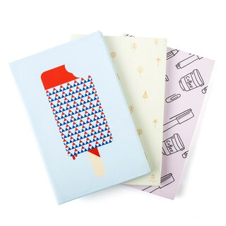 ONE Hard Cover Notebook 16.5x25cm. 100Sheets 6/Pack