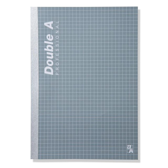 Double A Professional Lecture Glued Notebook A5 70gsm. Gray 40Sheets