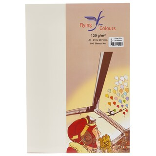 03 Colour Card Paper A4 120gsm. Ivory (100Sheets/Pack) ฟลายอิ้ง