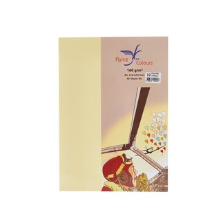 10 Colour Card Paper A4 160gsm. Yellow (50/Pack)