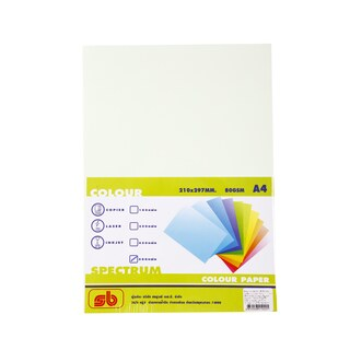 2 Color Copier Paper A4 80gsm. Light Green (500/Pack)