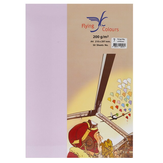 Flying 07 Colour Copier Paper A4 200gsm. Purple (50/Pack)