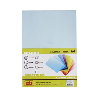 1 Colour Copier Paper A4 80gsm. Blue (100/Pack) SB Spectrum