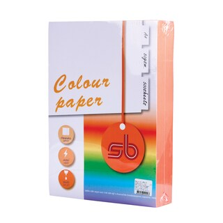#A9 Colour Copier Paper A4 80gsm Orange (500Sheets/Pack) SB