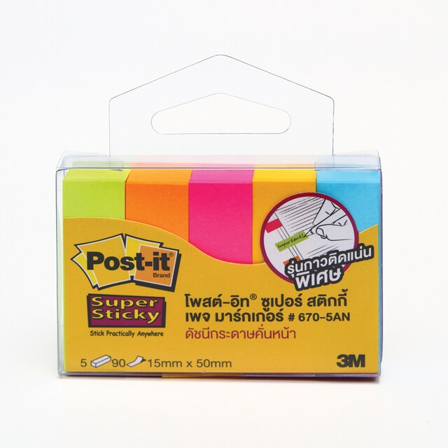 Post-it Page Marker 670-5AN 1.5x5cm. 5Colors