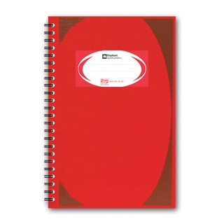 Elephant WHC403 Hard Cover Wirebound Notebook Red