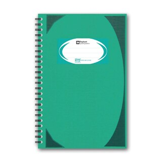 Elephant WHC404 Hard Cover Wirebound Notebook Green