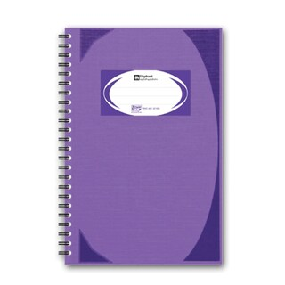 Elephant WHC405 Hard Cover Wirebound Notebook Purple