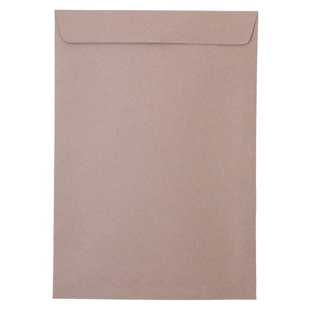 "Brown Kraft Open-End Envelope BA 9""x12 3/4"" Pack50 555"