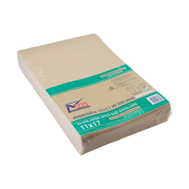 "Brown Kraft Enlarge Open-End Envelope 11""x17"" 555 KI"