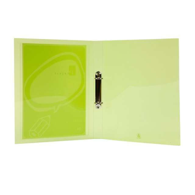2 Rings Binder A4 1-Inch Spine Green ORCA A-991