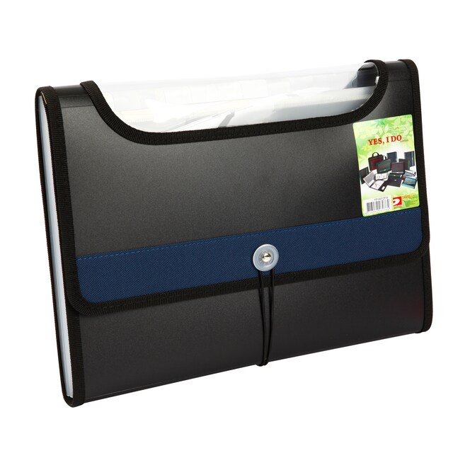 Portable File 12-Pockets A4 Blue Databank YP-A4-12FW