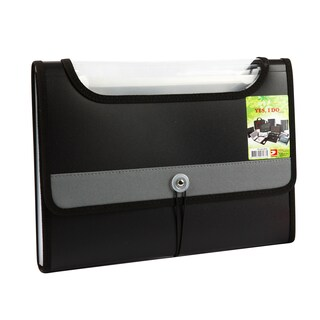 Portable File 12-Pockets A4 Gray Databank YP-A4-12FW
