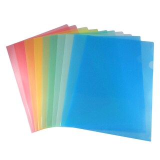 Plastic Folder A4 Asst. Colors (12/Pack) YOYA E310