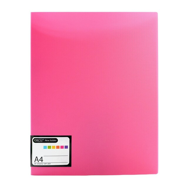 View Binder A4 Pink (20 Sheets) ORCA DT-201