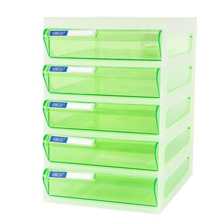 5-Drawer Chest with White - Green Construction ORCA CFA5