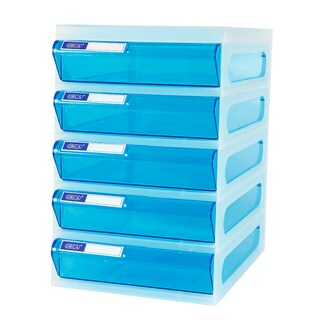 5-Drawer Chest with White - Blue Construction ORCA CFA5