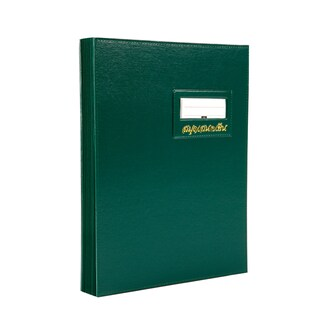 Signatory Book F4 Green Relux S-10