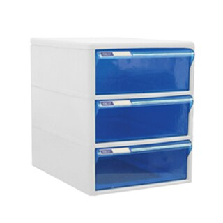 3-Drawer Chest with Blue-White Construction ORCA TCB-3BB
