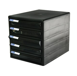 Drawer Chest with Black-Black Construction