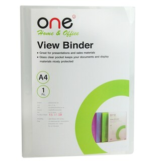 View Binder A4 Clear (30/Book) ONE