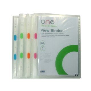 View Binder A4 Clear (10/Book) ONE