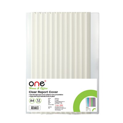 ONE Binding Bar File Folder A4 5mm. White (12/Pack)