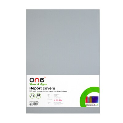 Plastic Report Cover A4 Clear (20 Sheets/Pack) ONE