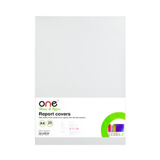 Plastic Report Cover A4 White (20 Sheets/Pack) ONE