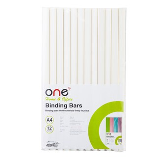 Binding Bar 5 mm. Translucent White (12/Pack) ONE