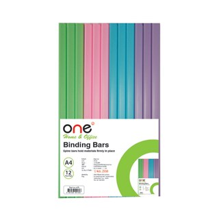 Binding Bar 5 mm. Asst. Colors (12/Pack) ONE