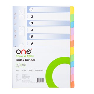 Index Divider D/12 Tabs ONE