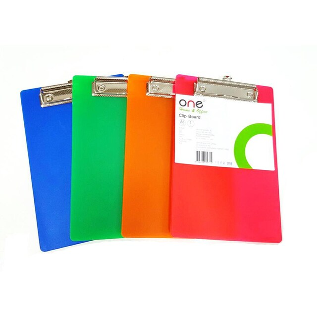 Clipboard A5 Asst. Colors ONE