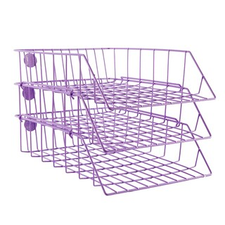 Stack Document Tray 78 3 Tires Violet ONE