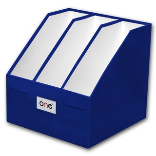 3-Hole Magazine Holder Blue ONE