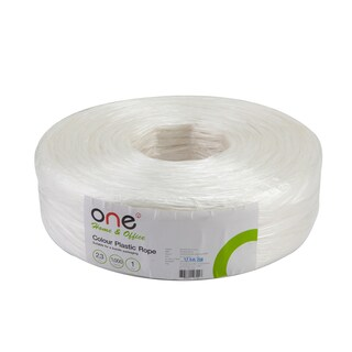 Essentials Plastic Rope 1 KG. 2.3 cm. White ONE
